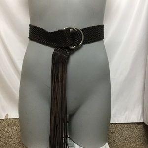 J.Crew Leather Fringe Belt